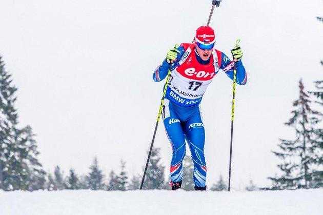 Michal Krčmář na trati v dějišti MS v Holmenkollenu.