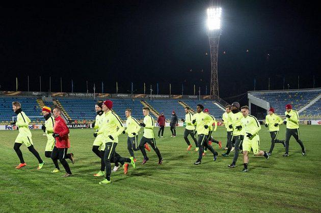 Fotbalisté Sparty Praha během tréninku před utkáním Evropské ligy proti Rostovu.