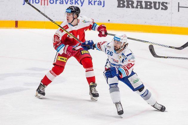 Zleva Adam Rutar z Olomouce a Martin Zaťovič z Brna.