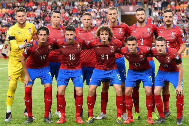 Čeští fotbaloví reprezentanti před zápasem kvalifikace ME 2020 proti Bulharsku.