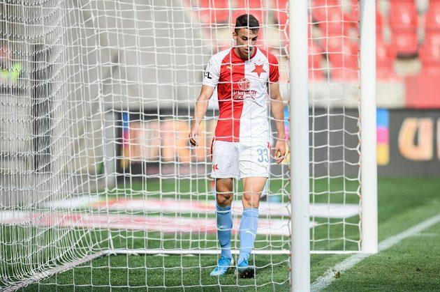 Petar Musa během utkání domácí Slavie se Zlínem