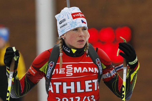 Biatlonistka Barbora Tomešová.
