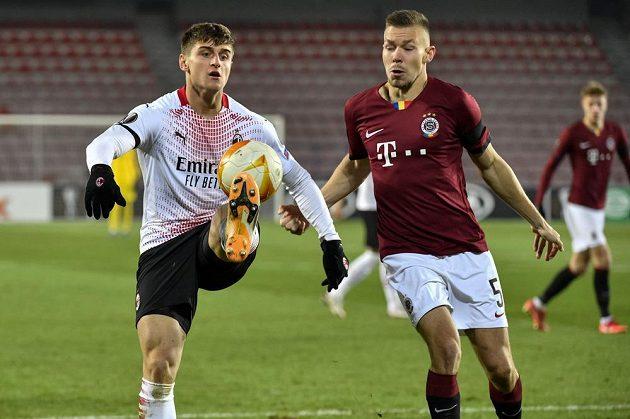Zleva Lorenzo Colombo z Milána a Dominik Plechatý ze Sparty.