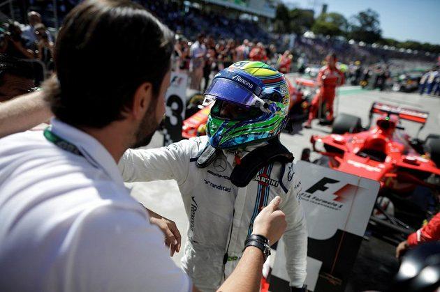 Felipe Massa z Williamsu po svém posledním brazilském závodě.