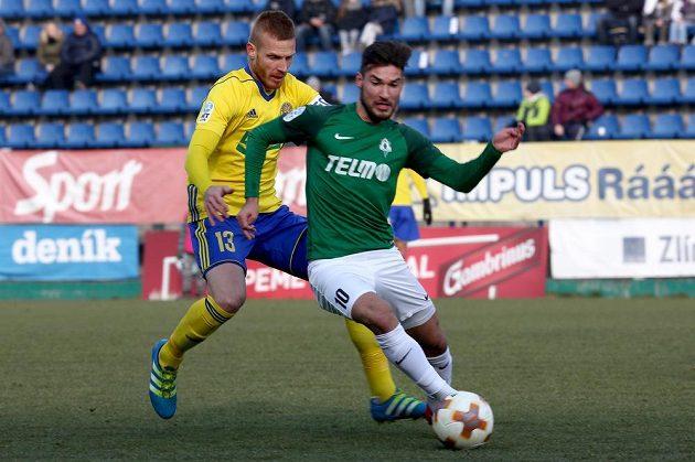 Zleva Tomáš Janíček ze Zlína a Michal Trávník z Jablonce.