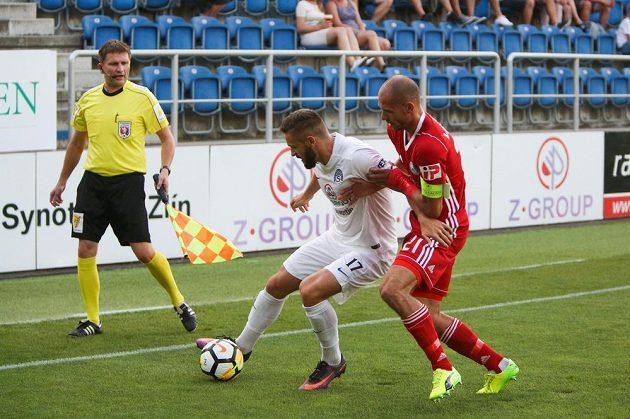 Zleva Tomáš Zajíc ze Slovácka a Michal Vepřek z Olomouce.