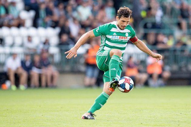 Kapitán fotbalistů Bohemians Josef Jindřišek během utkání 4. kola Fortuna ligy, kdy ve Vršovicích hrála Plzeň.