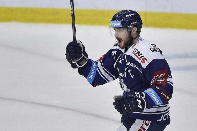 Rastislav Dej z Vítkovic se raduje z gólu proti Liberci.
