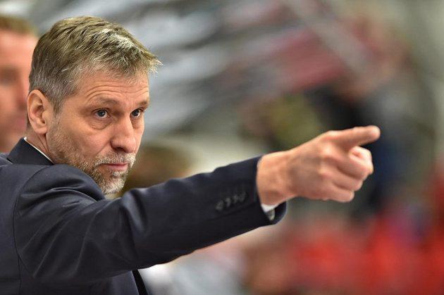 Trenér českých hokejistů Josef Jandač při utkání s Finy.