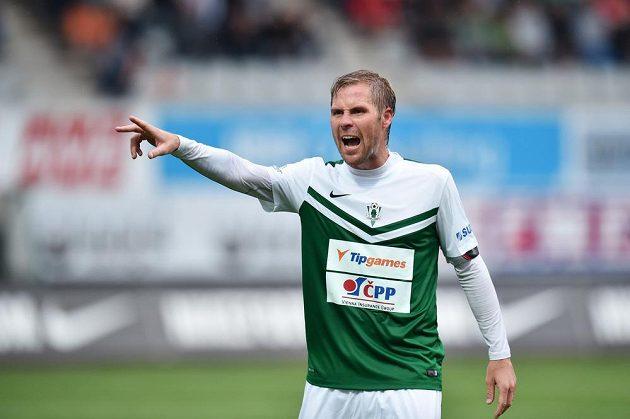 Jablonecký záložník Tomáš Hübschman v zápase s Kodaní.