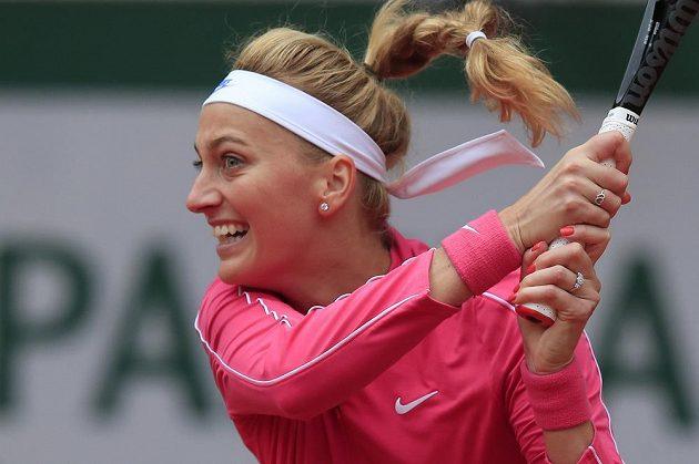 Petra Kvitová v osmifinále Roland Garros.
