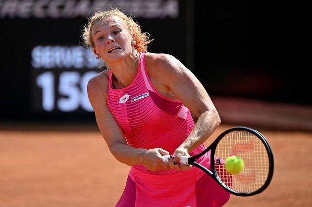 Česká tenistka Kateřina Siniaková v akci.