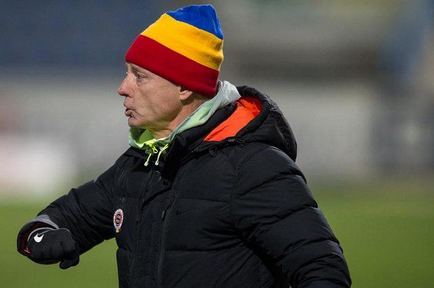Trenér Sparty Praha Zdeněk Ščasný během úvodního čtvrtfinále MOL Cupu v Liberci.
