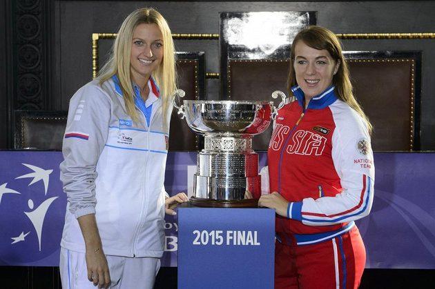 Petra Kvitová a Anastasija Pavljučenkovová (vpravo) zahájí sobotní dvouhry.