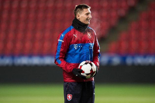 Milan Škoda během tréninku národního týmu.