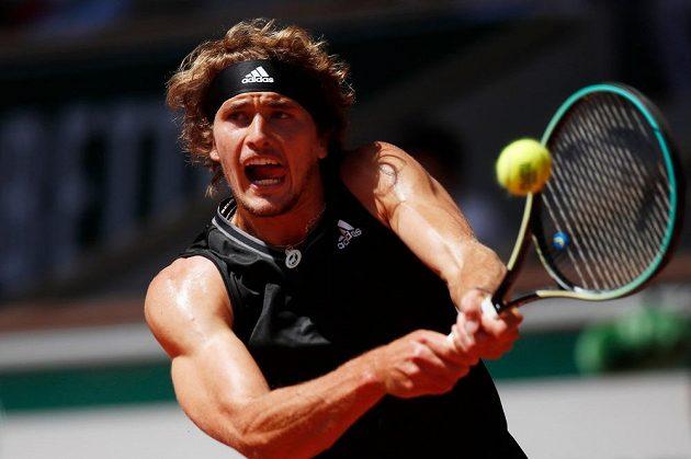 Německý tenista Alexander Zverev na French Open.