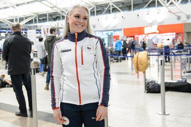 Barbora Havlíčková během odletu na ZOH 2018 do jihokorejského Pchjongčchangu.