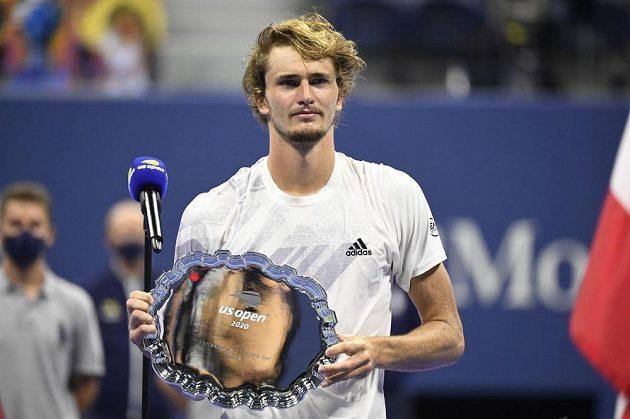 Poražený finalista US Open, německý tenista Alexander Zverev.