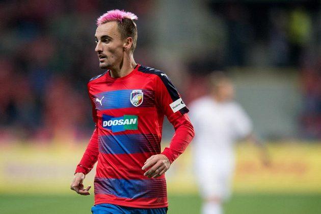 Plzeňský záložník Martin Zeman během duelu se Spartou.