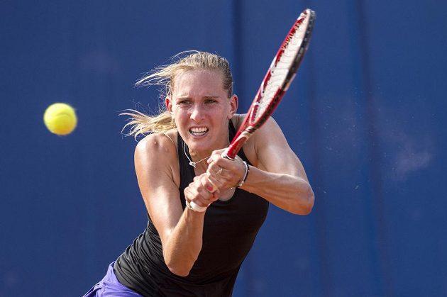 Tenistka Nicole Vaidišová v prvním kole turnaje na pražské Štvanici.