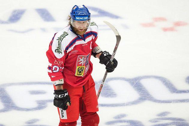 Jakub Voráček během utkání turnaje Carlson Hockey Games se Švédy.
