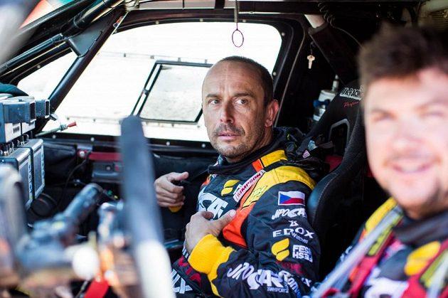 Jan Tománek, navigátor Martina Prokopa, při Rallye Dakar 2016.