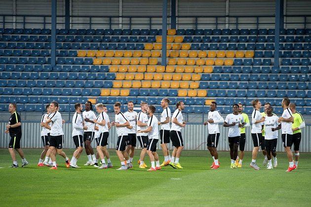 Fotbalisté Sparty Praha na středečním tréninku před utkáním Evropské ligy s Minskem.