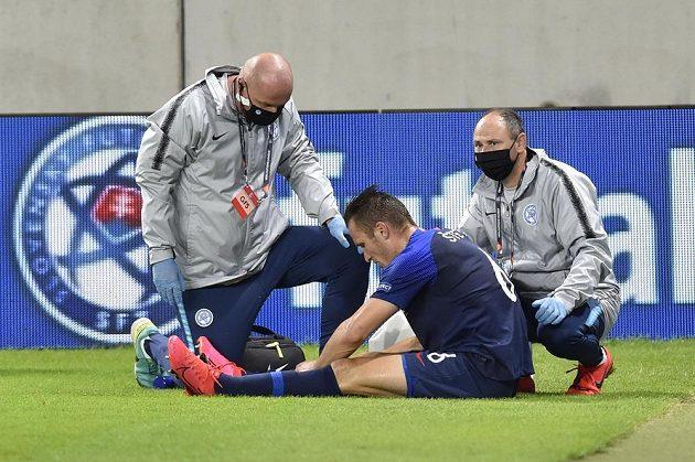 Lukáš Štetina ze Slovenska musel kvůli zranění střídat.
