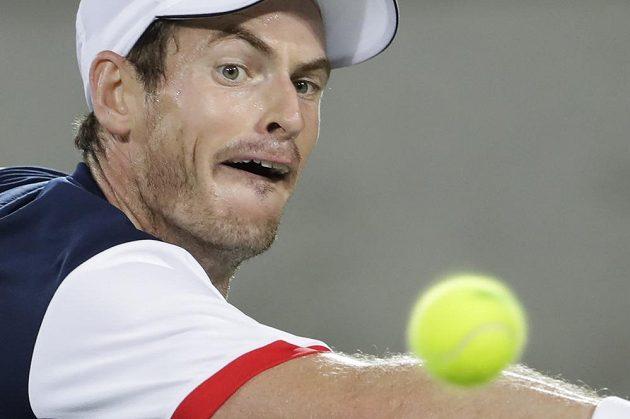 Andy Murray během bitvy o zlato na OH v Riu.