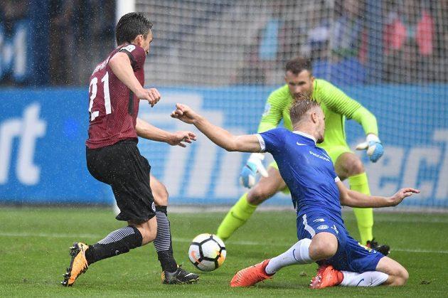 Z utkání Liberec - Sparta