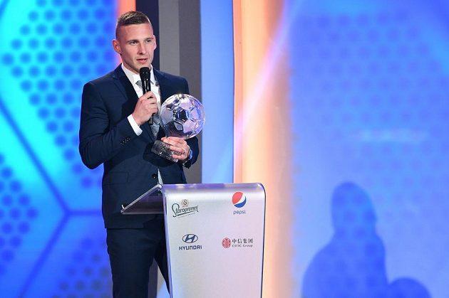 Pavel Kadeřábek během slavnostního vyhlášení ankety Fotbalista roku, kde obsadil druhé místo