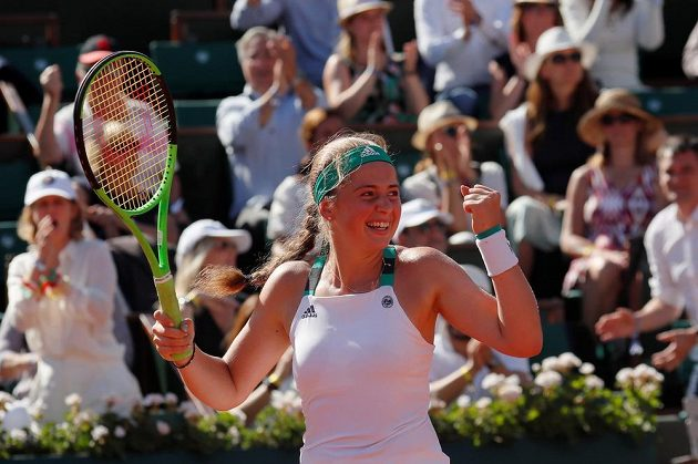 Lotyška Jelena Ostapenková, nečekaná finalistka dvouhry na Roland Garros.
