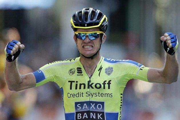 Vítěz první pyrenejské etapy Tour de France Michael Rogers z Austrálie.