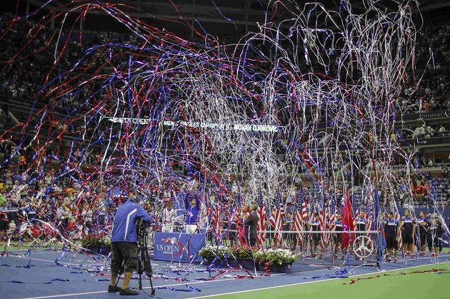 Slavnostní ceremoniál po finále US Open.