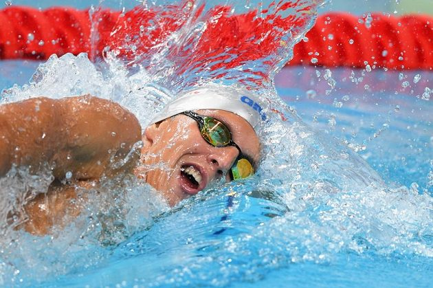Jan Micka v rozplavbě na 1500 metrů během MS v Budapešti.