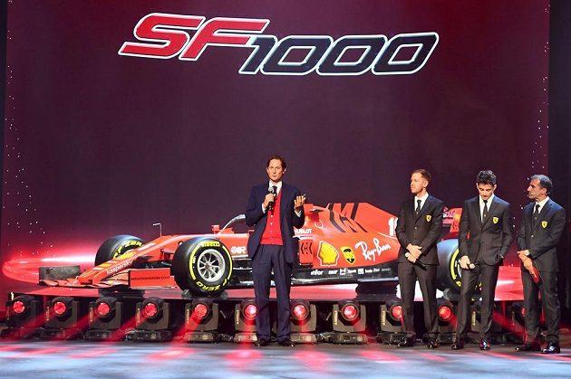 SF1000, tedy rudý speciál, který dostal název i podle tisící Velké ceny,