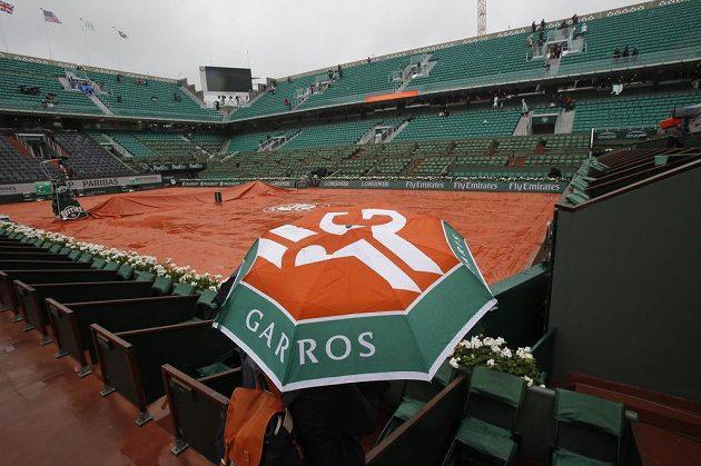 Kurty na Roland Garros zasáhl v pondělí déšť a celý program byl zrušen.