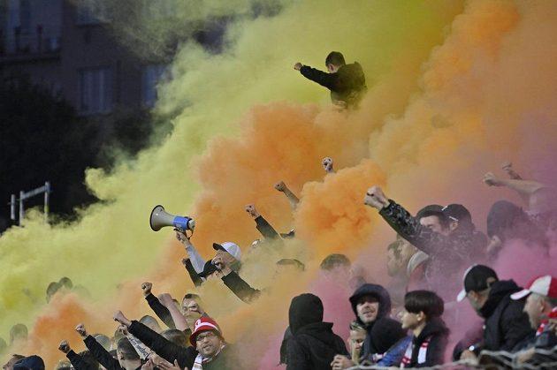 Fanoušci Slavie.