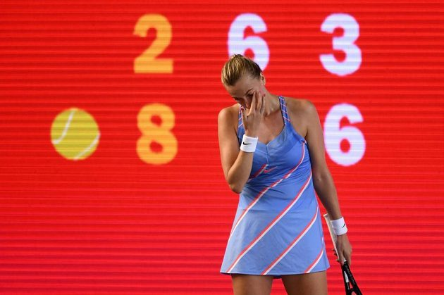 Petra Kvitová v závěrečném super tie breaku finále turnaje v Berlíně.