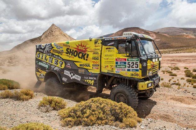 Martin Macík na trati 8. etapy Rallye Dakar.