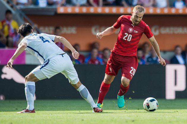 Český záložník Jiří Skalák během přípravného utkání s Koreou.
