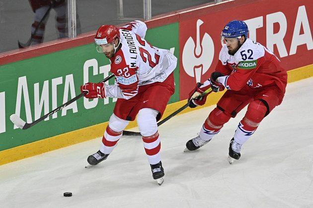 V souboji (zleva) Markus Lauridsen z Dánska a Michael Špaček.