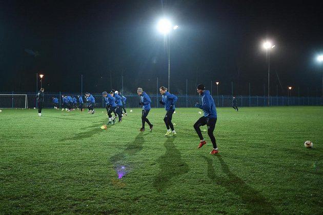 Trénink fotbalistů Liberce před zápasem Evropské ligy s Marseille.