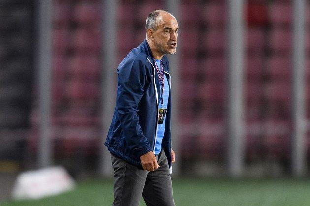 Trenér Sparty Praha Václav Kotal během utkání 2. kola Fortuna ligy.
