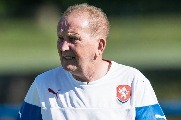 Josef Pešice během tréninku reprezentace do 21 let před nadcházejícím ME.