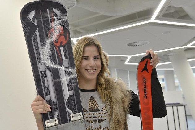 Dvojnásobná olympijská vítězka ve sjezdovém lyžování a snowboardingu Ester Ledecká.