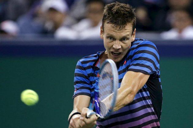 Český tenista Tomáš Berdych na Andyho Murrayho ve čtvrtfinále turnaje v Šanghaji nestačil.