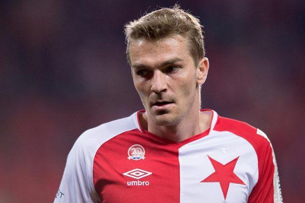 Milan Černý ze Slavie při utkání s Mladou Boleslaví.