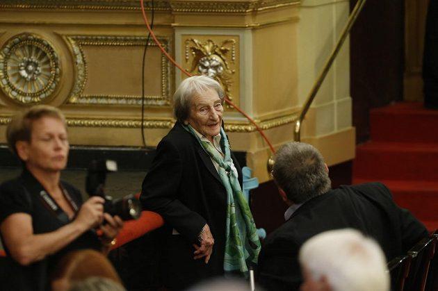 Vzpomínky na Věru Čáslavskou se zúčastnila také bývalá oštěpařka Dana Zátopková.