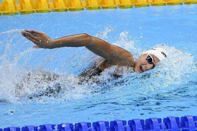Česká plavkyně Barbora Seemanová v semifinále OH v Tokiu 2021 na 200 m volným způsobem